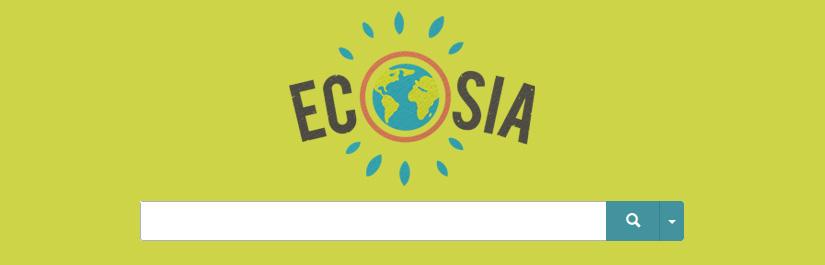 Mit der Suchmaschine Ecosia die Umwelt schützen.