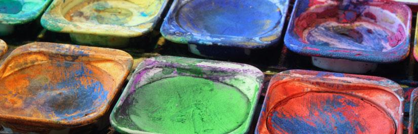 Ein bunter Farbkasten